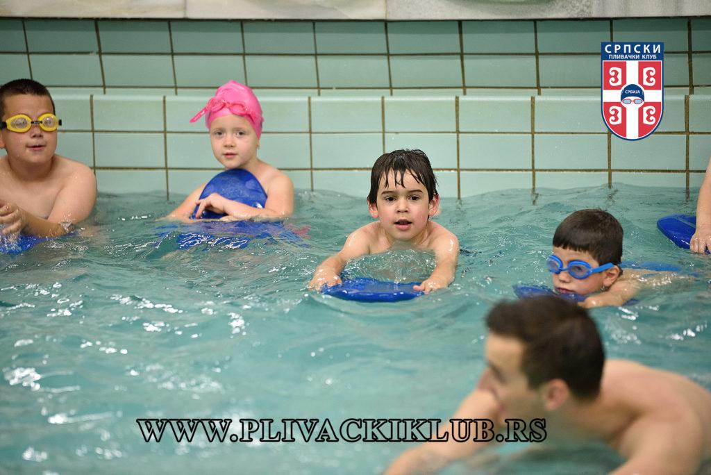 Vežbe u školi plivanja