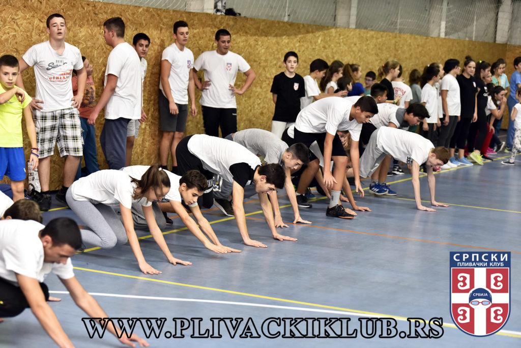 Srpski plivački klub - suvi trening u sali